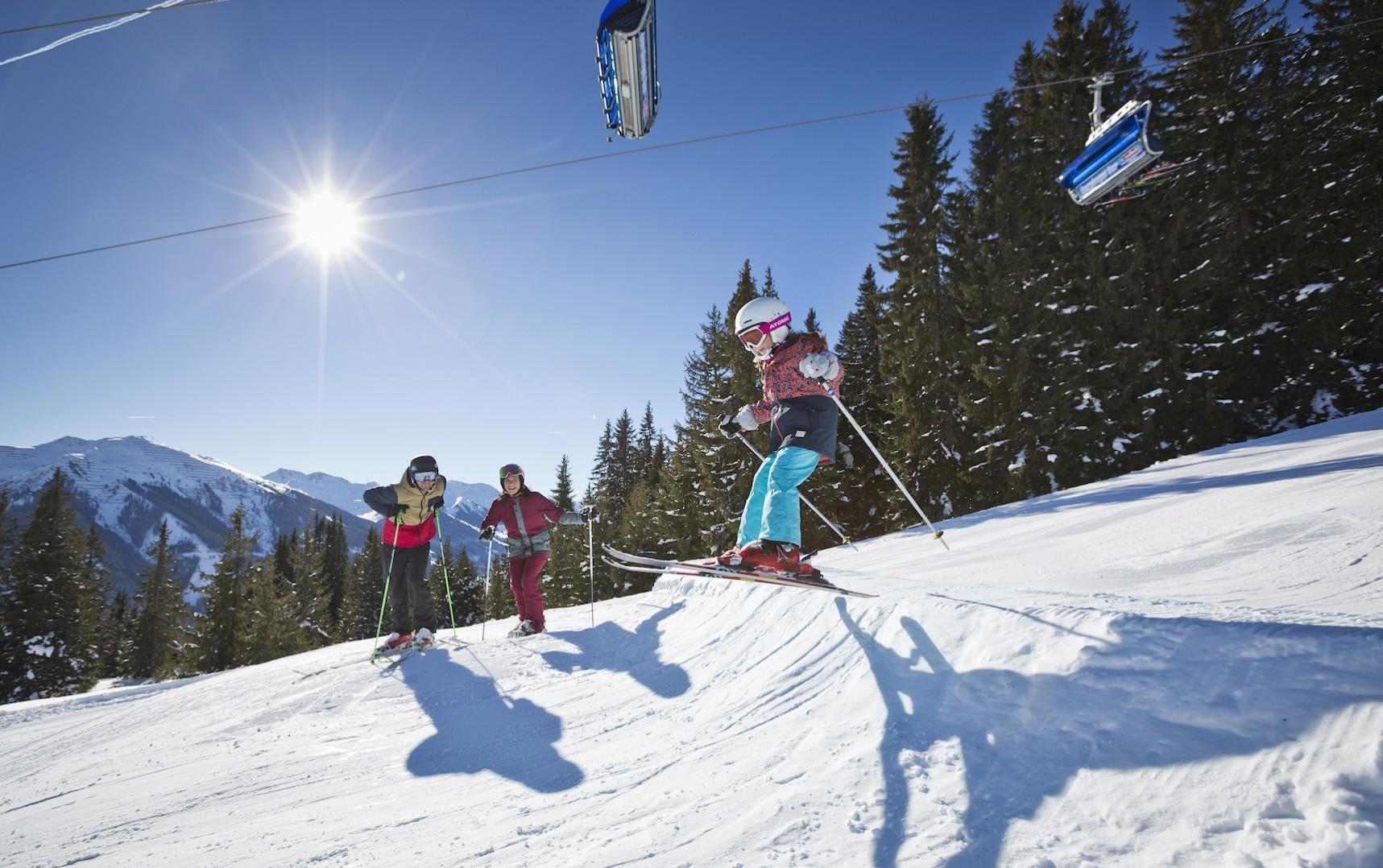 Winter in Saalbach-Hinterglemm im Salzburger Land